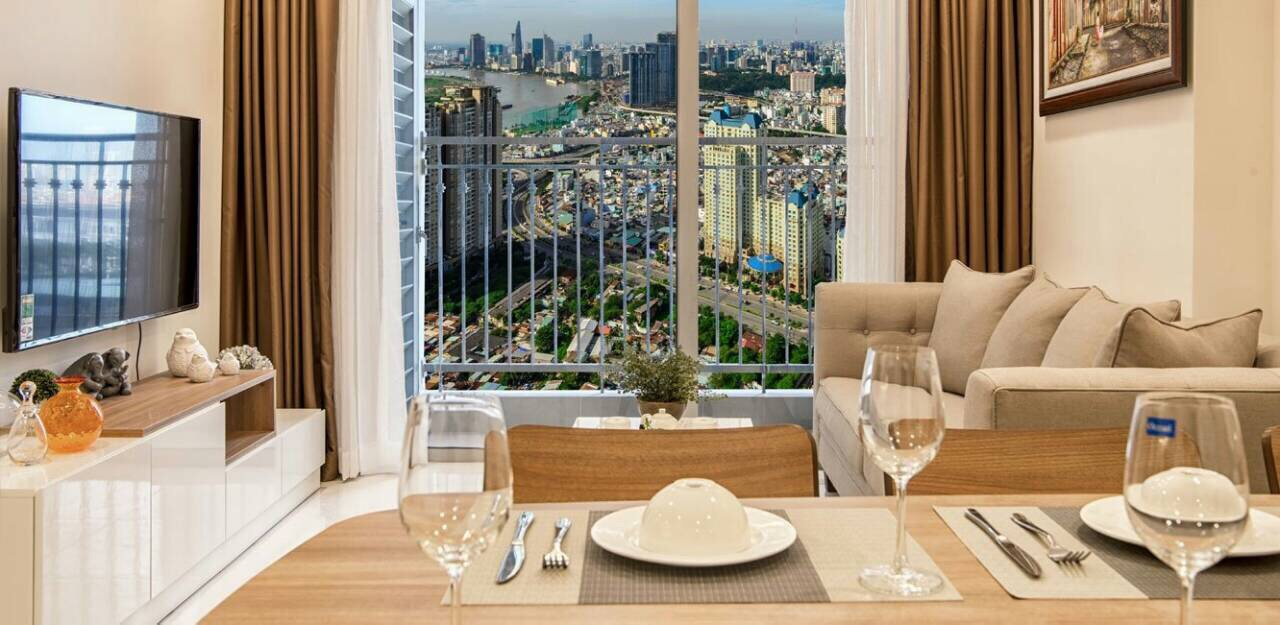 Vinhomes Central Park 2 bedroom Officetel for lease